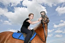 Free Nice Girl Riding A Hors Stock Photos - 20180713