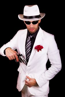 Free White Suit Gangster Royalty Free Stock Photo - 20180955