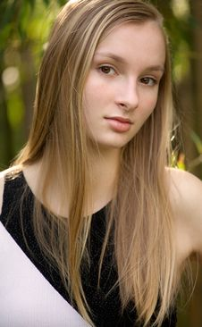 Gorgeous Teen Outside Stock Image