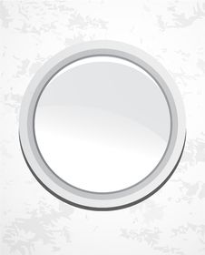 Free Silver Smooth Plate. Vector Background Royalty Free Stock Photography - 20181227