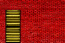 Free Red Wall Yellow Door Stock Photo - 20181700