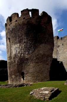 Free Ruins Of Caerphilly Castle, Wales. Royalty Free Stock Image - 20183226