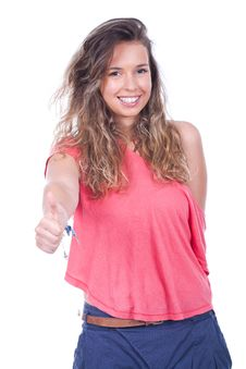 Free Woman With Thumb Up Stock Photos - 20183323