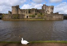 Free Ruins Of Caerphilly Castle, Wales. Stock Image - 20183341