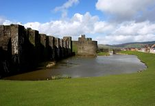 Free Ruins Of Caerphilly Castle, Wales. Royalty Free Stock Photos - 20183398