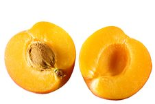 Free Apricot Sliced In Half Isolated On White Stock Images - 20184554