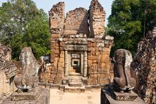 East Mebon Temple Of Angkor, Cambodia Stock Images