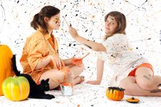 Free Halloween Paint War Stock Photos - 20184963