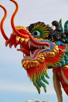 Free Chinese Dragon Statue Stock Image - 20185971