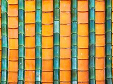 Free Buddhist Motifs Tiles Roof Royalty Free Stock Image - 20186066