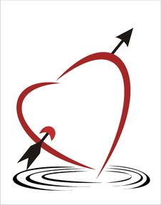 Free Isolated Heart Arrow Stock Images - 20186484