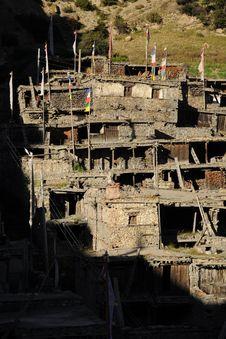 Tibetan Stone Village, Nepal Royalty Free Stock Image