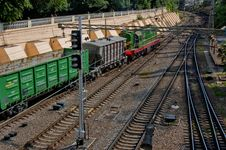 Free Freight Diesel Train Royalty Free Stock Photography - 20187607