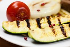 Free Grilled Vegetables On A Plate Stock Photography - 20188142