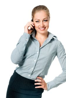 Free Business Lady On The Phone Calls Royalty Free Stock Images - 20188639