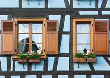Free Windows Of Timber Framing House Stock Image - 20188661