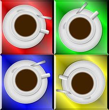 Free Coffee Cups Royalty Free Stock Photos - 20188688