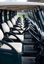 Free Row Of Golf Carts Royalty Free Stock Photo - 20194015