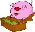 Free Vector Pig Eat  Illustration Stock Images - 20198644