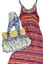 Free Long Skirt With A Handbag Royalty Free Stock Image - 20199556