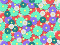 Free Colourfull Flower Background Tile Stock Images - 20199734