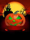 Free Pumpkin Halloween Card With Hanged Man. EPS 8 Stock Images - 20199764