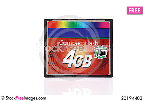 Free Compact Flash Card Stock Photos - 20194403
