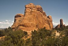Free Hiking In Arches National Park Royalty Free Stock Photography - 20193807