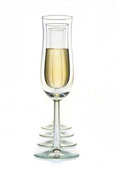 Free Glasses And Champagne Isolated On White Royalty Free Stock Photo - 20194065