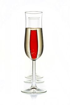 Champagne And Red Champagne Stock Photo