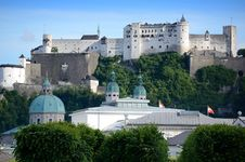 Free Hohensalzburg Fortress In Salzburg. Austria Royalty Free Stock Photography - 20195427