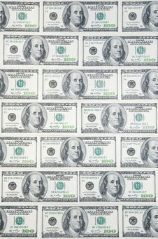 Free Background With American Hundred Dollar Bills Stock Photography - 20195942