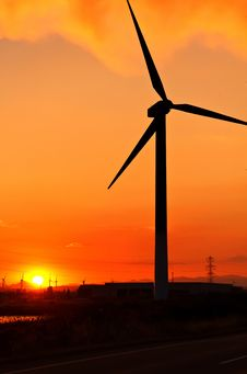 Free Windturbines At Sunset Stock Photo - 20196280