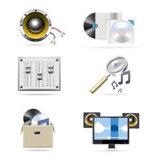 Free Music Vector Icon Set Part 4 Royalty Free Stock Image - 20196316