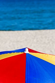 Free Colorful Beach Umbrella Royalty Free Stock Photography - 20196327