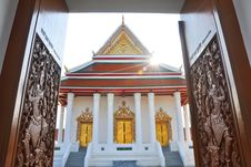 Carved Temple Door Stock Photo