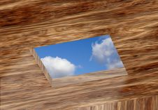 Free Opening In Ceiling With Sky Stock Photos - 20198563