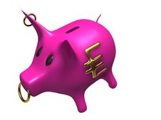 Free Pink Piggy Bank Royalty Free Stock Image - 20198986