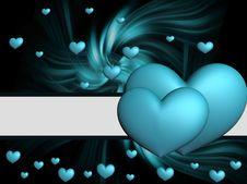 Free Blue Hearts Stock Photo - 20198990