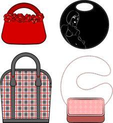 Free Cartoon Woman S Bag. Stock Photography - 20199472