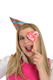 Free Pretty Party Female Celebrating Birthsday Stock Images - 20199694