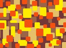 Abstract Rectangles Yellow Orange Brown Stock Photo