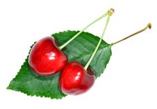 Free Cherry Isolated On White Stock Images - 20199704