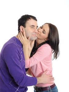 Free Sweet Young Couple In Love Kissing Royalty Free Stock Photography - 20199707