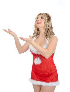 Free Pretty Santa Clause Woman Royalty Free Stock Photo - 20199735