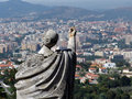 Free Statue And The City Royalty Free Stock Photography - 2020027