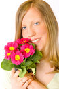 Free Beautiful Girl With Flowers Stock Images - 2027274