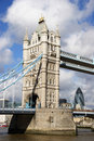 Free Tower Bridge With Skyline Behind Stock Image - 2027691