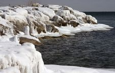 Icy Shore8 Royalty Free Stock Photography