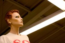 Free Mannequin Looks Far Away Stock Image - 2021281